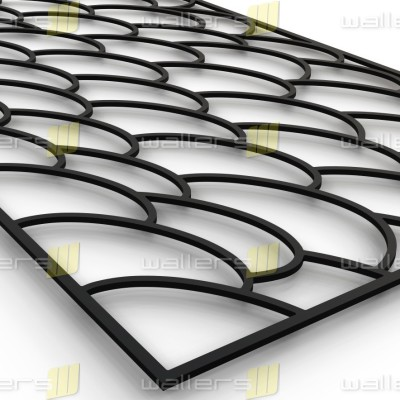 WG-027 Fish Scales Fretwork MDF Grille Panel