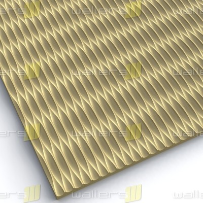 WT-002 Linear 3D Carved Wave Pattern MDF Texture Wall Panel