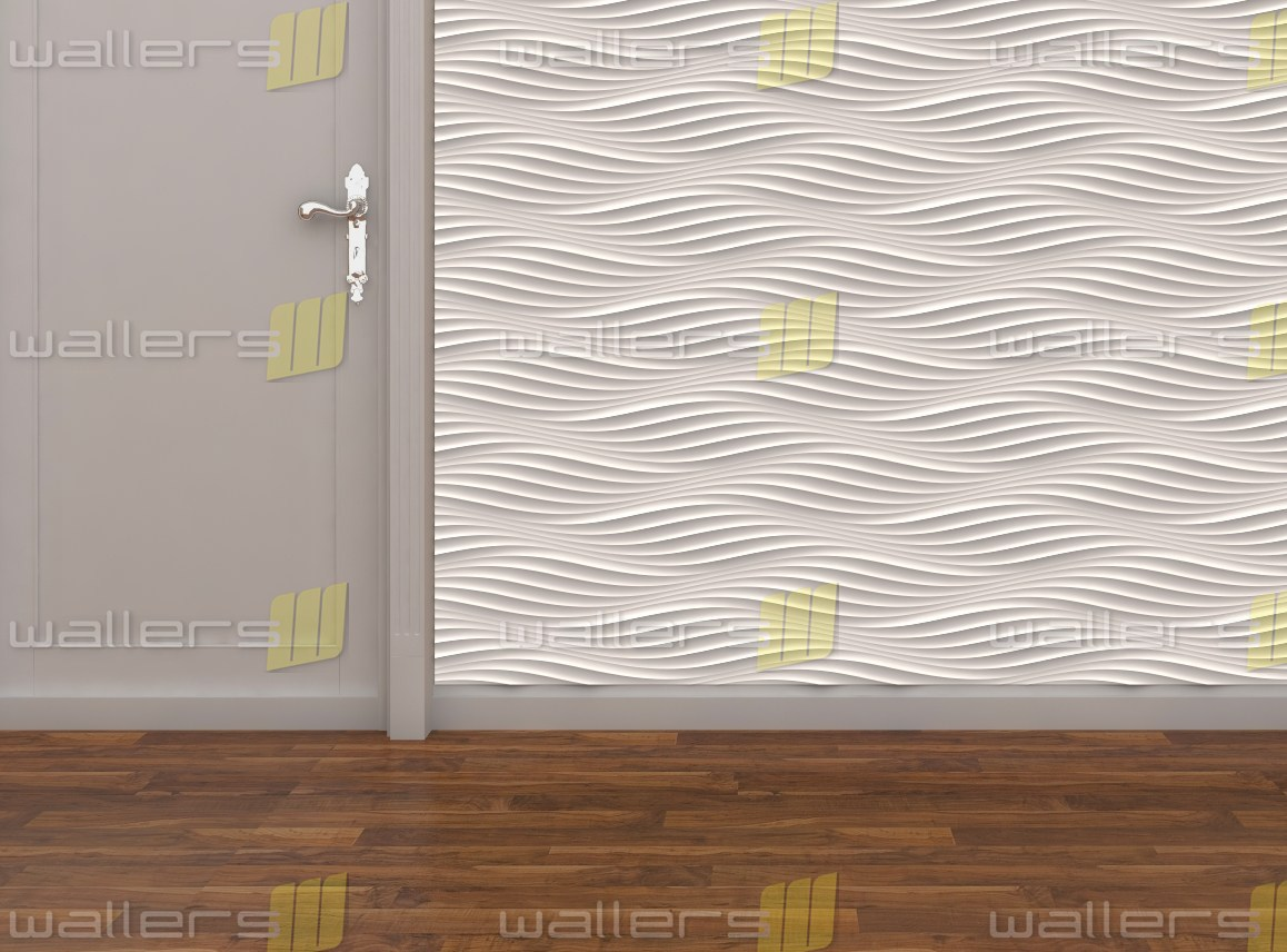 Wt 004 Random 3d Carved Wave Pattern Mdf Texture Wall Panel